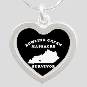 Bowling Green Massacre Survi Silver Heart Necklace