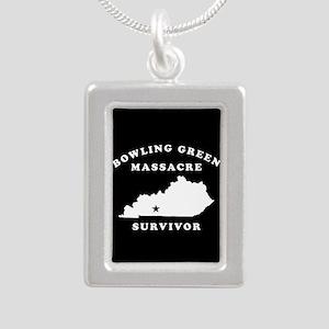 Bowling Green Massacre S Silver Portrait Necklace