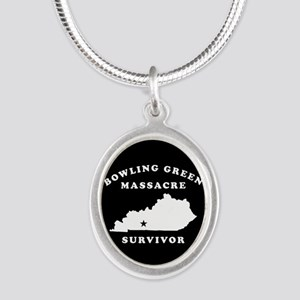Bowling Green Massacre Surviv Silver Oval Necklace