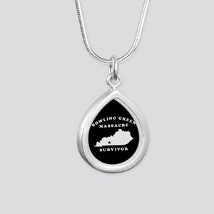 Bowling Green Massacre S Silver Teardrop Necklace