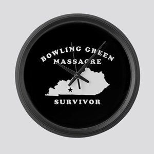 Bowling Green Massacre Survivor Large Wall Clock