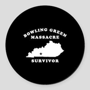 Bowling Green Massacre Survivor Round Car Magnet