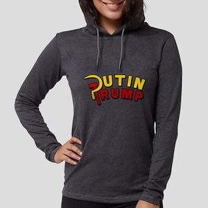 Putin Trump Color Womens Hooded Shirt