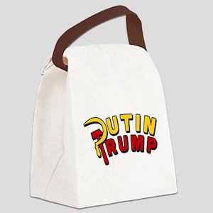 Putin Trump Color Canvas Lunch Bag
