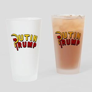 Putin Trump Color Drinking Glass