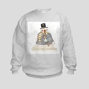 Snowman Love Kids Sweatshirt
