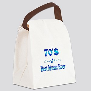 70s Best Music Canvas Lunch Bag