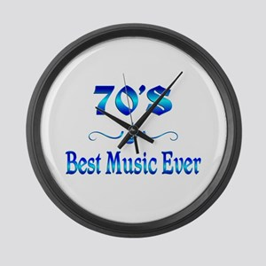 70s Best Music Large Wall Clock