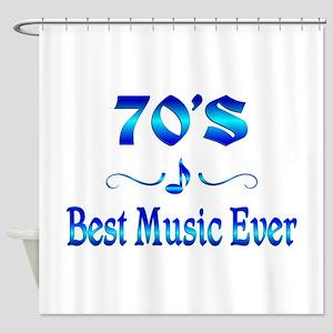 70s Best Music Shower Curtain