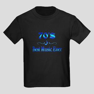 70s Best Music Kids Dark T-Shirt