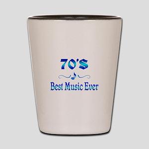70s Best Music Shot Glass