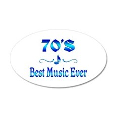 70s Best Music Wall Decal