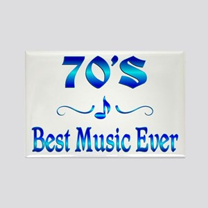 70s Best Music Rectangle Magnet