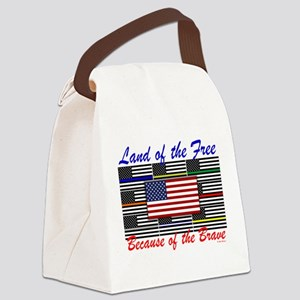 Land of the Free Canvas Lunch Bag