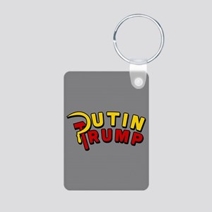 Putin Trump Color Aluminum Photo Keychain