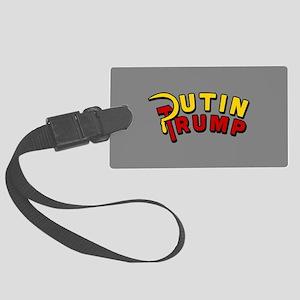 Putin Trump Color Large Luggage Tag