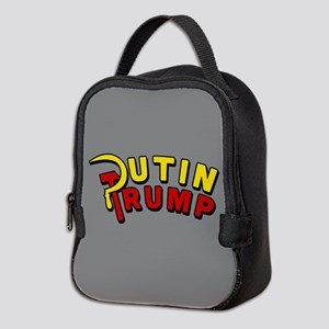Putin Trump Color Neoprene Lunch Bag