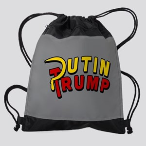 Putin Trump Color Drawstring Bag