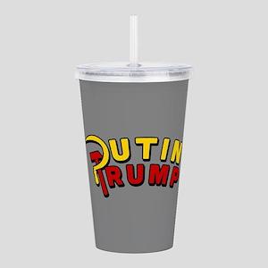 Putin Trump Color Acrylic Double-wall Tumbler