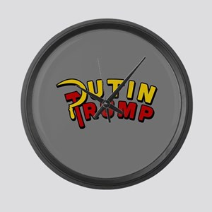 Putin Trump Color Large Wall Clock