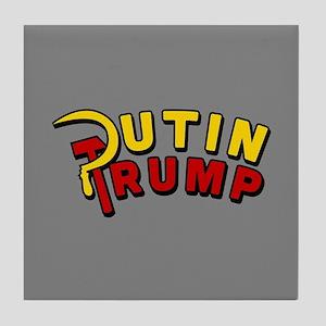 Putin Trump Color Tile Coaster