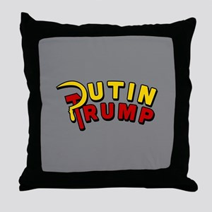 Putin Trump Color Throw Pillow