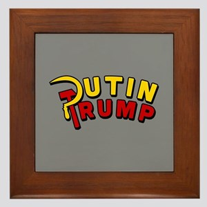 Putin Trump Color Framed Tile