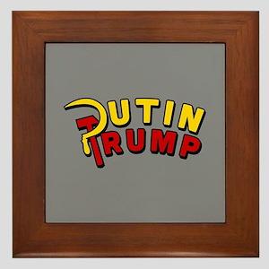 Putin Trump Color Framed Tile