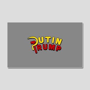 Putin Trump Color Car Magnet 20 x 12