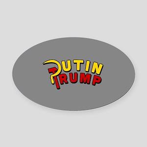 Putin Trump Color Oval Car Magnet