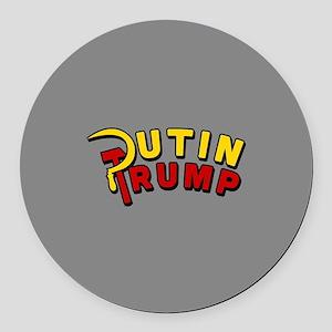 Putin Trump Color Round Car Magnet