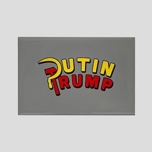 Putin Trump Color Rectangle Magnet