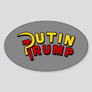 Putin Trump Color Sticker (Oval)
