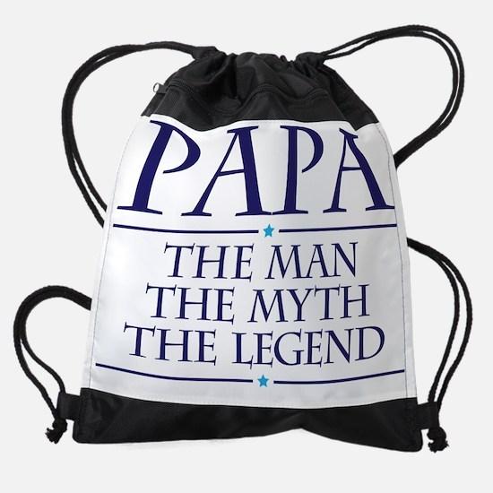 Papa Man Myth Legend Drawstring Bag