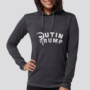 Putin Trump Womens Hooded Shirt