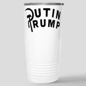 Putin Trump 16 oz Stainless Steel Travel Mug