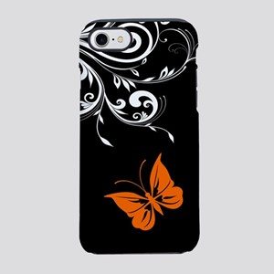 Orange Black and white Butterf iPhone 7 Tough Case