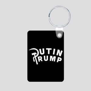 Putin Trump Aluminum Photo Keychain