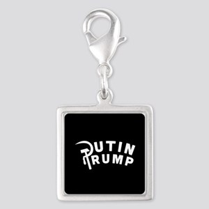 Putin Trump Silver Square Charm