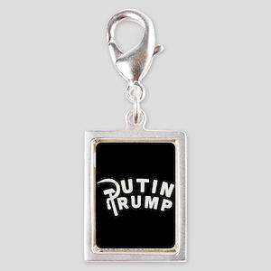 Putin Trump Silver Portrait Charm