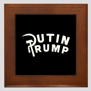 Putin Trump Framed Tile