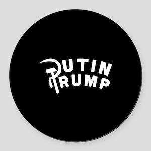 Putin Trump Round Car Magnet