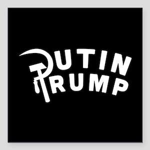 """Putin Trump Square Car Magnet 3"""" x 3"""""""