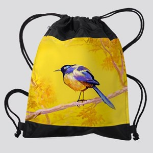 Beauty of Color Bird-Acrylic on can Drawstring Bag