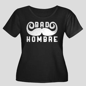 Bad Homb Women's Plus Size Scoop Neck Dark T-Shirt