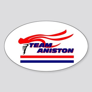 Team Aniston Oval Sticker