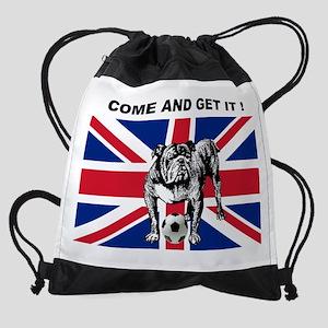 British Football Bulldog Drawstring Bag