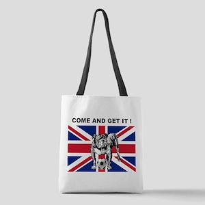 British Football Bulldog Polyester Tote Bag