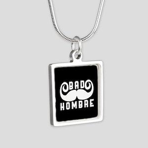 Bad Hombre Silver Square Necklace