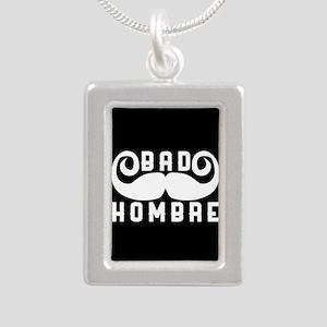 Bad Hombre Silver Portrait Necklace